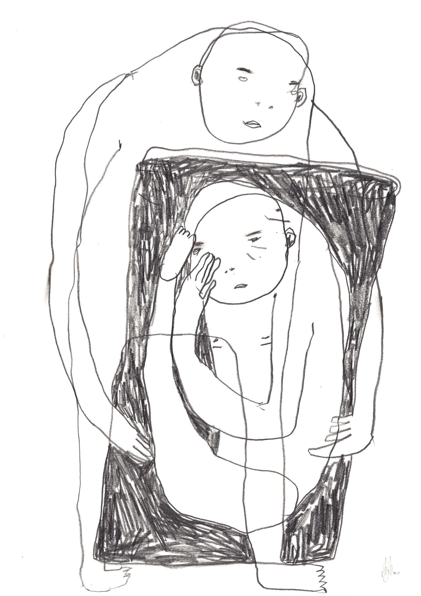 drawings, expressive, graphical, illustrative, minimalistic, bodies, everyday life, moods, black, white, paper, pencils, abstract-forms, contemporary-art, copenhagen, danish, decorative, interior, interior-design, love, modern, modern-art, nordic, romantic, scandinavien, street-art, Buy original high quality art. Paintings, drawings, limited edition prints & posters by talented artists.