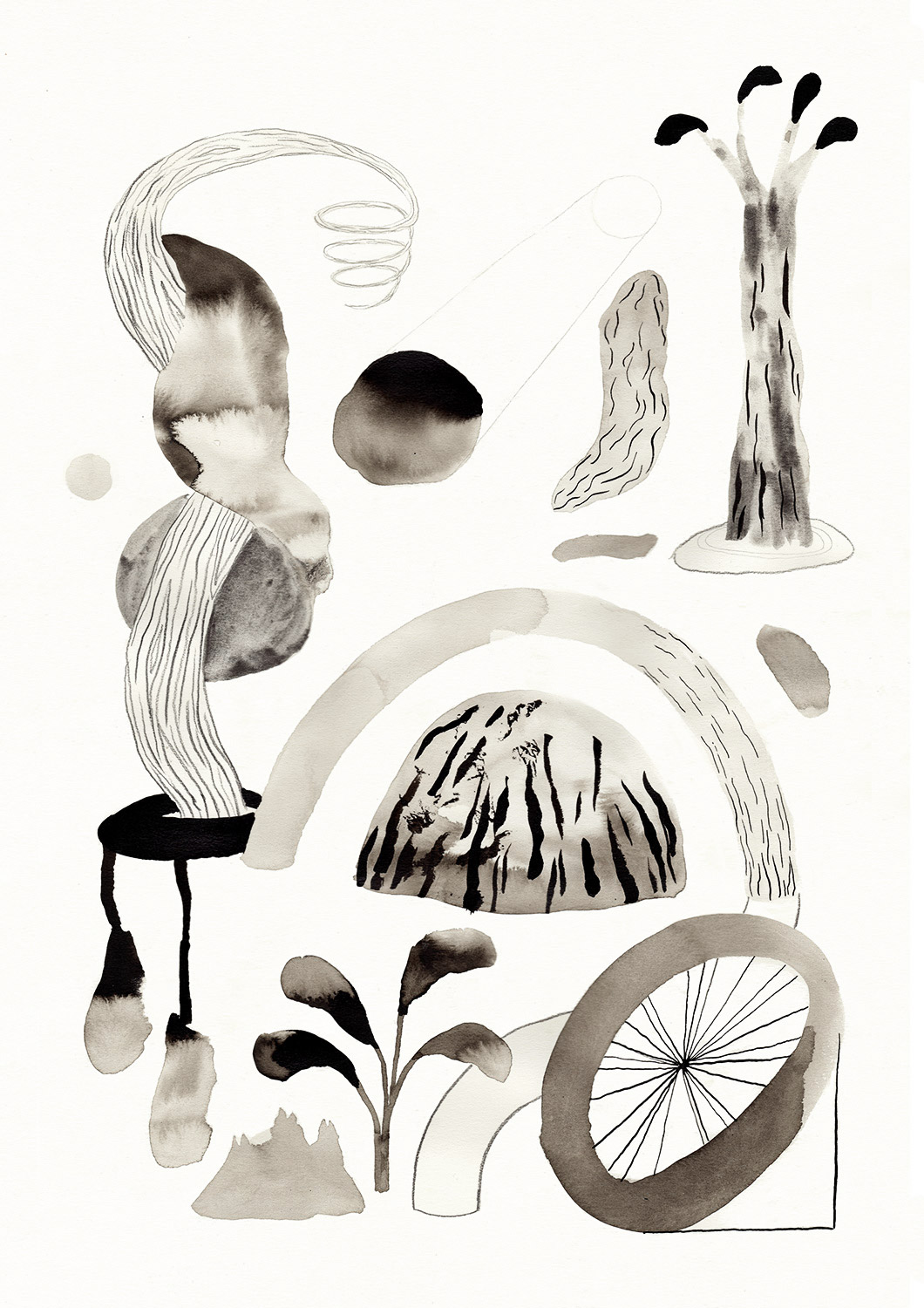 art-prints, gliceé, abstract, landscape, animals, botany, nature, black, grey, white, ink, abstract-forms, flowers, scenery, trees, wood, Buy original high quality art. Paintings, drawings, limited edition prints & posters by talented artists.