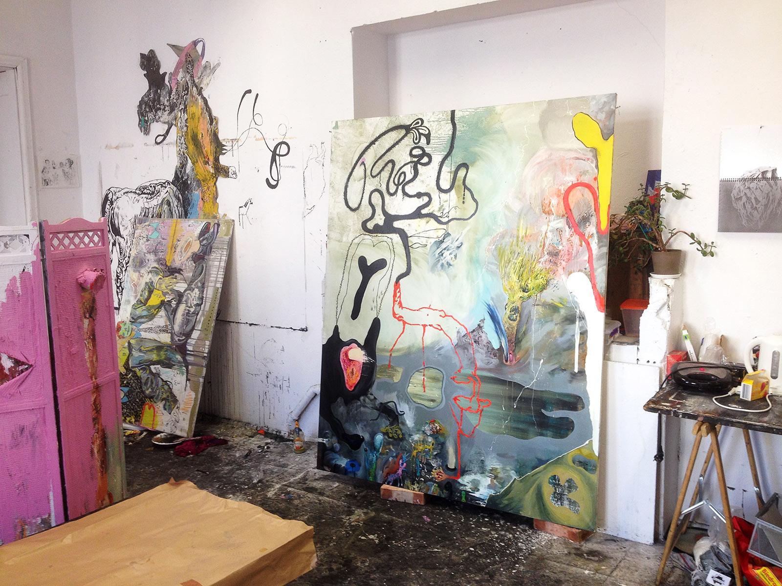 View in the artist's studio