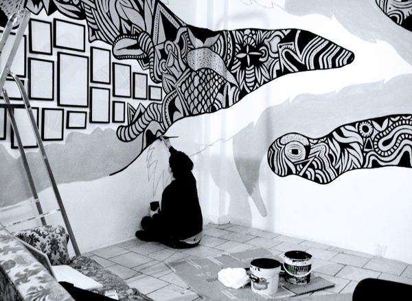 White Mural Black And Art Part 13