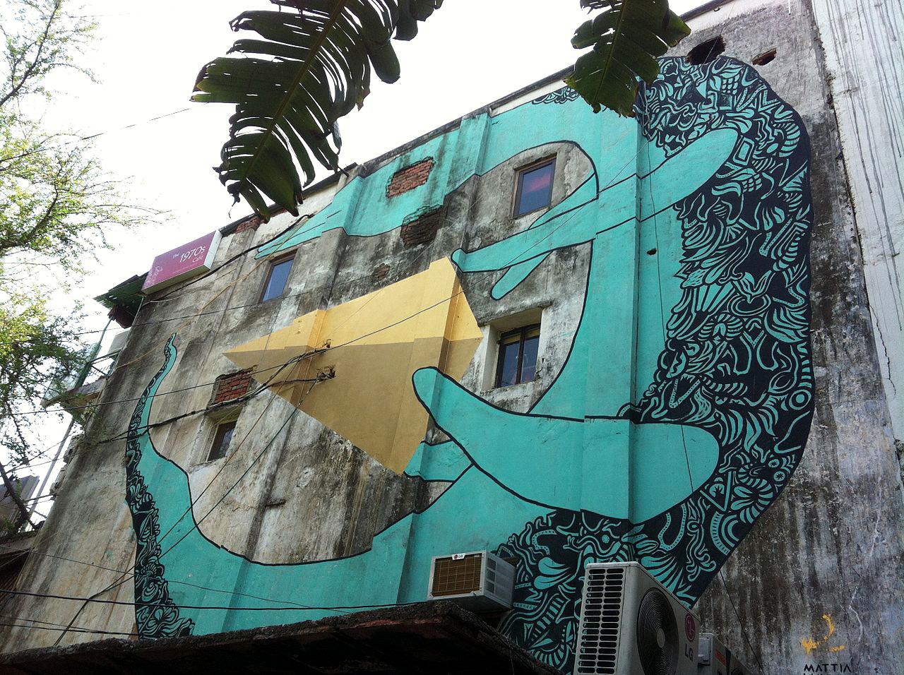 Murals graffiti mattia lullini art festival wall painting for Building wall mural