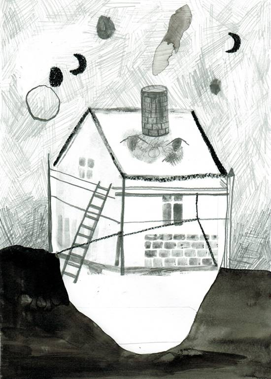drawings, aesthetic, family-friendly, landscape, monochrome, architecture, sky, black, grey, white, ink, paper, pencils, other-mediums, architectural, danish, dark, decorative, design, houses, interior, interior-design, nordic, scandinavien, Buy original high quality art. Paintings, drawings, limited edition prints & posters by talented artists.