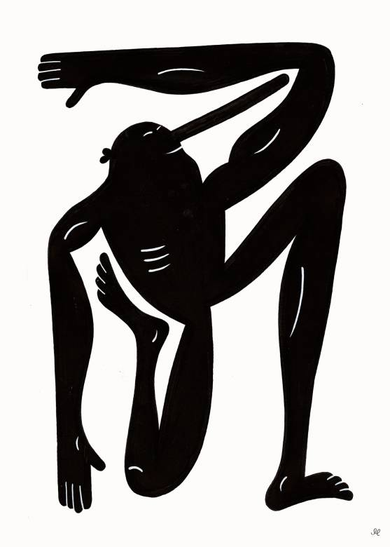 art-prints, giclee, family-friendly, figurative, graphical, minimalistic, monochrome, bodies, cartoons, humor, movement, people, sport, black, white, ink, paper, black-and-white, contemporary-art, copenhagen, danish, decorative, design, interior, interior-design, modern, modern-art, nordic, posters, prints, scandinavien, Buy original high quality art. Paintings, drawings, limited edition prints & posters by talented artists.