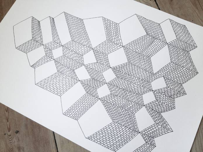 drawings, geometric, graphical, pop, architecture, patterns, black, white, artliner, paper, abstract-forms, architectural, contemporary-art, cubes, danish, design, interior, interior-design, modern, modern-art, nordic, scandinavien, shapes, street-art, Buy original high quality art. Paintings, drawings, limited edition prints & posters by talented artists.