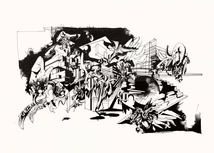 art-prints, gliceé, aesthetic, graphical, monochrome, pop, architecture, botany, patterns, black, white, ink, paper, abstract-forms, architectural, black-and-white, buildings, design, interior, interior-design, Buy original high quality art. Paintings, drawings, limited edition prints & posters by talented artists.