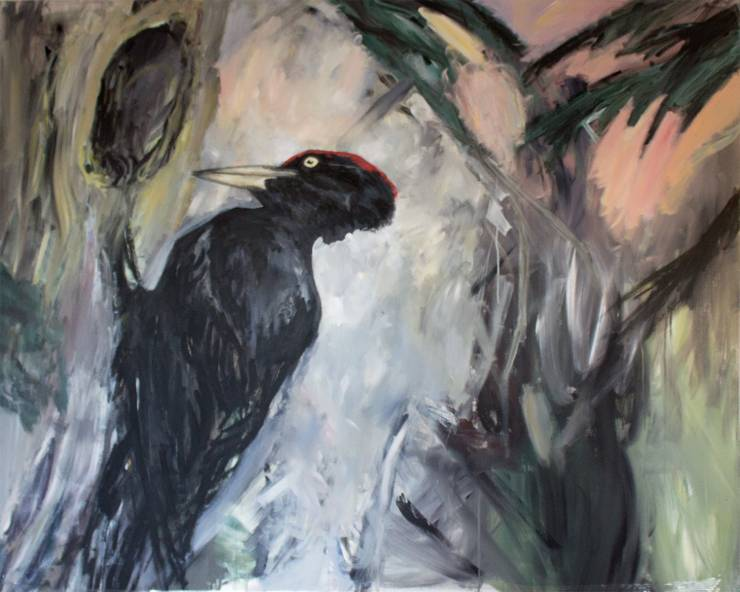 paintings, aesthetic, animal, figurative, landscape, nature, wildlife, black, green, grey, pink, cotton-canvas, oil, birds, flowers, natural, naturalism, plants, Buy original high quality art. Paintings, drawings, limited edition prints & posters by talented artists.