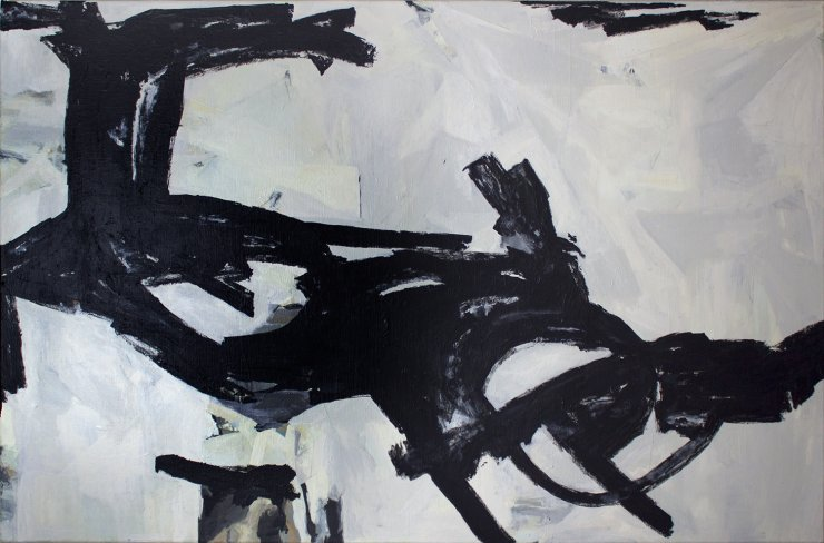 paintings, abstract, aesthetic, monochrome, movement, black, grey, white, acrylic, cotton-canvas, abstract-forms, beautiful, black-and-white, copenhagen, danish, decorative, interior, interior-design, nordic, scandinavien, Buy original high quality art. Paintings, drawings, limited edition prints & posters by talented artists.