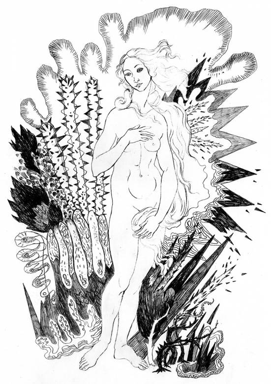 """famous painting """"The Birth of Venus"""" by the Renaissance painter Sandro Botticelli, art-prints, gliceé, aesthetic, figurative, monochrome, portraiture, bodies, botany, sexuality, black, white, ink, paper, black-and-white, erotic, flowers, nudity, sexual, Buy original high quality art. Paintings, drawings, limited edition prints & posters by talented artists."""