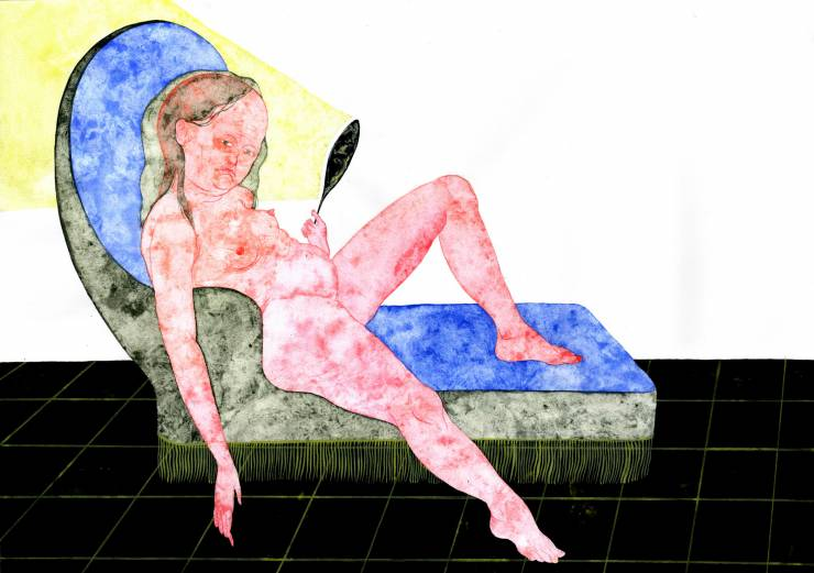 drawings, gouache, watercolors, figurative, illustrative, portraiture, bodies, moods, people, sexuality, black, blue, pink, yellow, gouache, paper, contemporary-art, copenhagen, danish, decorative, female, feminist, interior, interior-design, modern, modern-art, nordic, nude, vivid, women, Buy original high quality art. Paintings, drawings, limited edition prints & posters by talented artists.