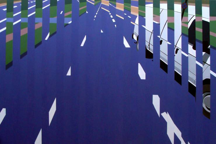 paintings, geometric, architecture, movement, patterns, transportation, blue, green, white, acrylic, cotton-canvas, architectural, buildings, scenery, Buy original high quality art. Paintings, drawings, limited edition prints & posters by talented artists.