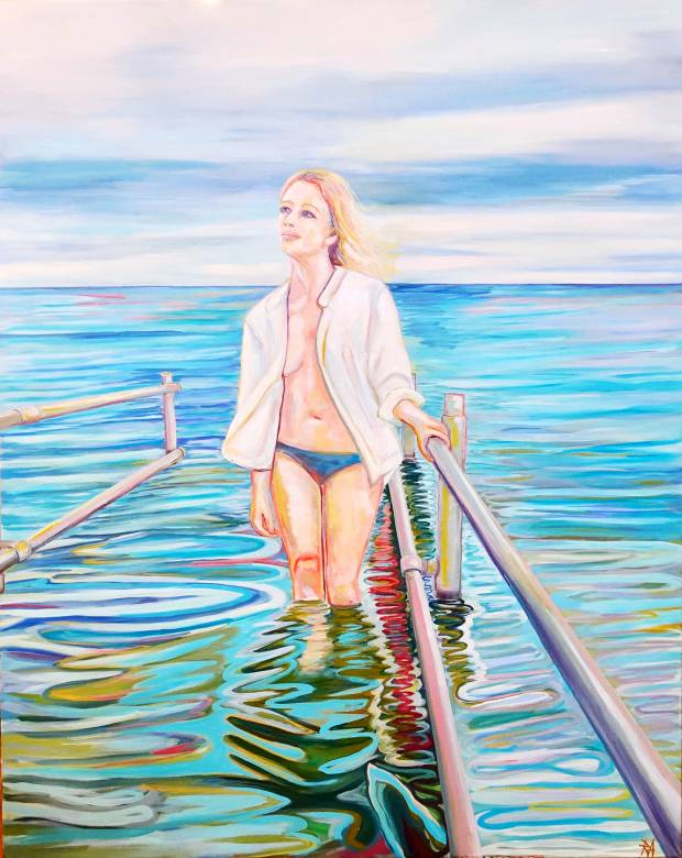 paintings, aesthetic, figurative, landscape, portraiture, oceans, seasons, sky, blue, green, purple, white, cotton-canvas, oil, atmosphere, contemporary-art, danish, design, interior, interior-design, modern, modern-art, natural, naturalism, nordic, nude, realism, scandinavien, water, Buy original high quality art. Paintings, drawings, limited edition prints & posters by talented artists.