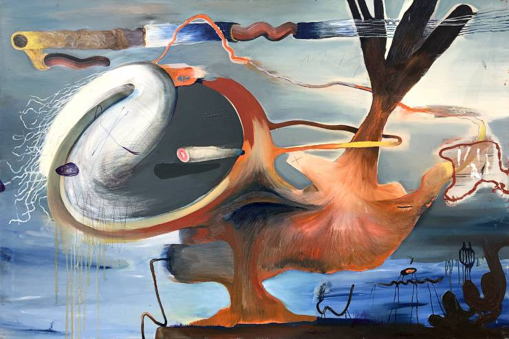 paintings, abstract, animal, landscape, surrealistic, movement, nature, sky, blue, grey, orange, pink, oil, abstract-forms, atmosphere, contemporary-art, decorative, design, interior, interior-design, modern, modern-art, nordic, scandinavien, scenery, shapes, Buy original high quality art. Paintings, drawings, limited edition prints & posters by talented artists.