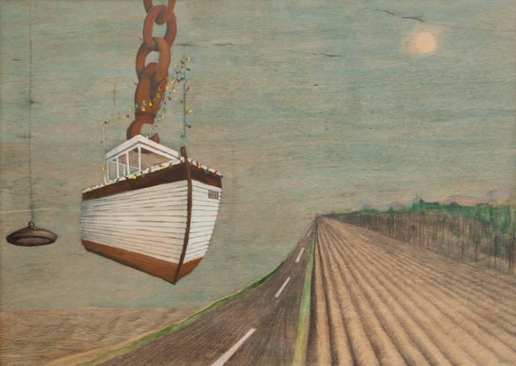 partyboat, good, chain, landscape, ship, ocean, road, sky