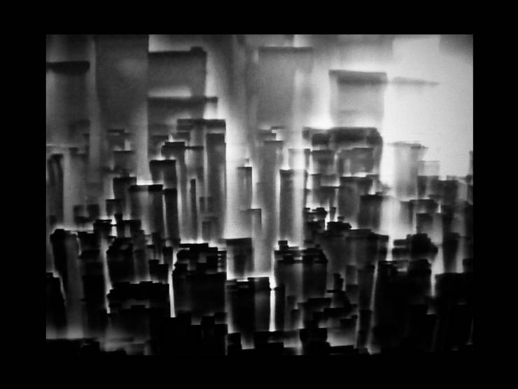 landscape city towers shadows 3d repeat structure black white gray photo art photography graphic minimalist visual forms circle