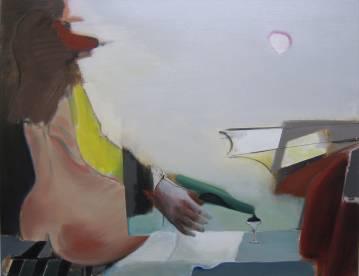 painting acrylic canvas woman butt man bottle romance sunny summer drinking rendezvous sex marck fink