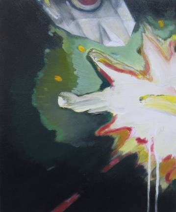 painting acrylic canvas origami paper airplane green explosion expressive drama airplane marck fink
