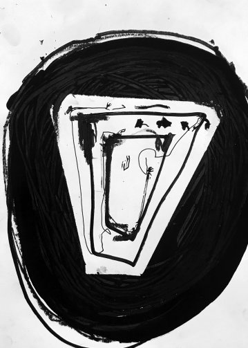 drawings, abstract, graphical, minimalistic, monochrome, people, black, acrylic, crayons, abstract-forms, Buy original high quality art. Paintings, drawings, limited edition prints & posters by talented artists.