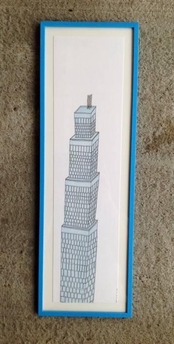 Architecture, New York, City, Illustration, Colour, Sky Blue, Skyscraper, Dubai, High-Rise, Lush, Pastel, Blue, Fabriano, Hip, Windows, Detail, Patience
