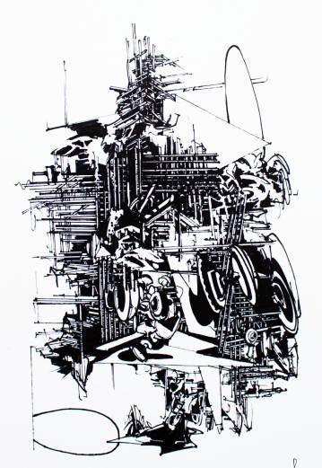 art-prints, gliceé, abstract, geometric, architecture, patterns, black, white, ink, paper, abstract-forms, architectural, black-and-white, buildings, Buy original high quality art. Paintings, drawings, limited edition prints & posters by talented artists.