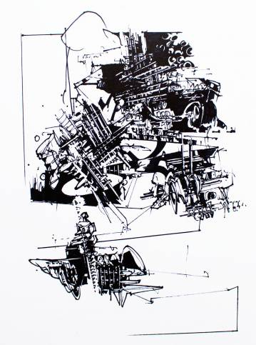 art-prints, gliceé, abstract, geometric, monochrome, architecture, patterns, black, ink, paper, abstract-forms, architectural, black-and-white, Buy original high quality art. Paintings, drawings, limited edition prints & posters by talented artists.