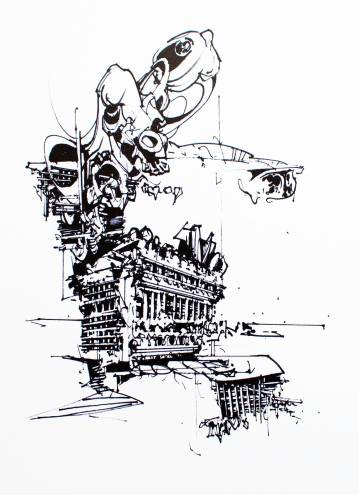 art-prints, gliceé, abstract, geometric, monochrome, architecture, black, white, ink, paper, abstract-forms, architectural, black-and-white, Buy original high quality art. Paintings, drawings, limited edition prints & posters by talented artists.