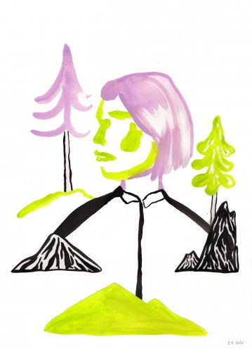 drawings, gouache-painting, watercolor-paintings, aesthetic, graphical, minimalistic, pop, animals, botany, nature, people, black, green, violet, gouache, ink, paper, beautiful, danish, decorative, design, forest, interior, interior-design, modern, modern-art, mountains, nordic, posters, pretty, prints, scandinavien, trees, Buy original high quality art. Paintings, drawings, limited edition prints & posters by talented artists.