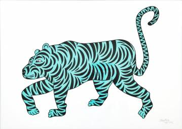 art-prints, serigraphs, animal, family-friendly, figurative, illustrative, pop, animals, cartoons, wildlife, black, green, turquoise, white, acrylic, ink, amusing, cats, contemporary-art, danish, design, interior, interior-design, modern-art, nordic, pop-art, posters, prints, scandinavien, Buy original high quality art. Paintings, drawings, limited edition prints & posters by talented artists.