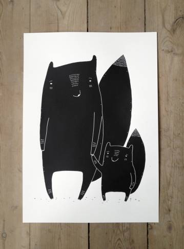 art-prints, gliceé, animal, family-friendly, graphical, minimalistic, pop, animals, moods, black, white, ink, paper, amusing, contemporary-art, cute, danish, design, interior, interior-design, love, modern, modern-art, nordic, romantic, scandinavien, street-art, Buy original high quality art. Paintings, drawings, limited edition prints & posters by talented artists.