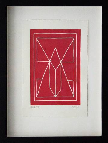 strong and expressive linocut, talented young artist, online art gallery