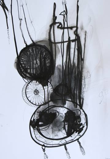 drawings, graphical, illustrative, monochrome, everyday life, movement, patterns, textiles, black, grey, white, acrylic, paper, cardboard, marker, oil, black-and-white, decorative, female, interior, romantic, sketch, symbolic, Buy original high quality art. Paintings, drawings, limited edition prints & posters by talented artists.