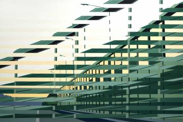 paintings, colorful, geometric, graphical, landscape, pop, architecture, movement, patterns, transportation, green, yellow, acrylic, cotton-canvas, oil, architectural, buildings, cars, cities, contemporary-art, danish, design, interior, interior-design, modern, modern-art, nordic, scandinavien, scenery, time, vehicles, Buy original high quality art. Paintings, drawings, limited edition prints & posters by talented artists.