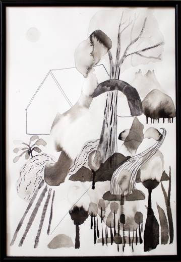 drawings, gouache, watercolors, aesthetic, family-friendly, landscape, monochrome, botany, beige, black, white, gouache, paper, watercolor, abstract-forms, beautiful, black-and-white, decorative, design, flowers, interior, interior-design, plants, pretty, water, Buy original high quality art. Paintings, drawings, limited edition prints & posters by talented artists.