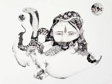 strong and expressive art illustrations and drawings, talented Danish illustrator