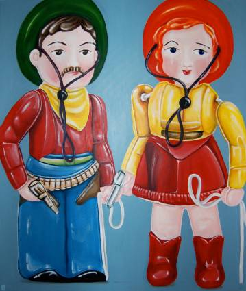 paintings, paintings, dolls, turquoise, blue, red, online galleries, art, pop art, surrealist paintings, figurative talented artists