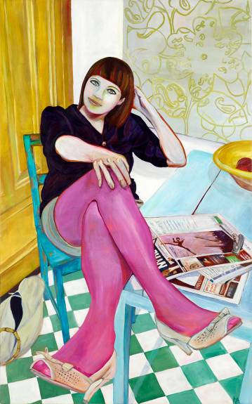 paintings-paintings-colorful pop-art-art-gallery-rikke-line andreasen