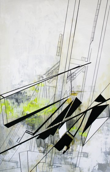 paintings, abstract, geometric, graphical, pop, architecture, patterns, science, technology, black, grey, white, yellow, acrylic, flax-canvas, marker, abstract-forms, architectural, contemporary-art, danish, decorative, design, interior, interior-design, modern, modern-art, nordic, scandinavien, Buy original high quality art. Paintings, drawings, limited edition prints & posters by talented artists.