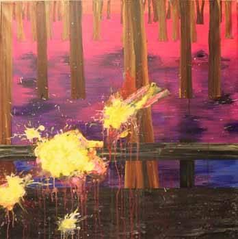 art, painting, anja hemmingsen, Road Kill