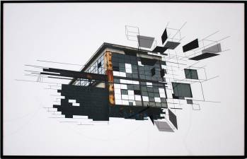 architectural and graphic limited art print, skilled Danish illustrator