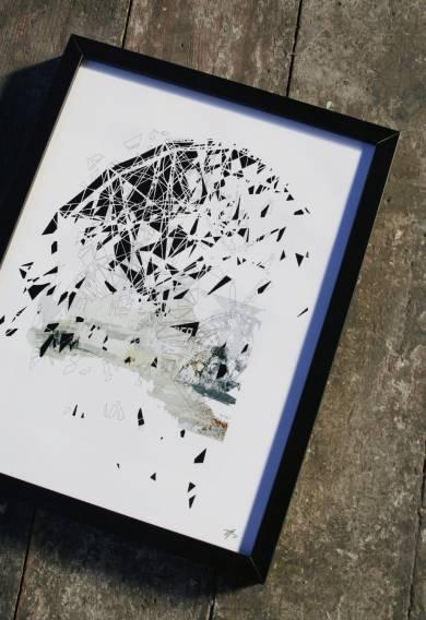Framed digital collage, Digital Collage, Photography, digital collage on the wall, digital printing, Framed digital collage Home Nursing photography, art photography, art photography, fragmentation, dynamics, structures and history. facebook, google,