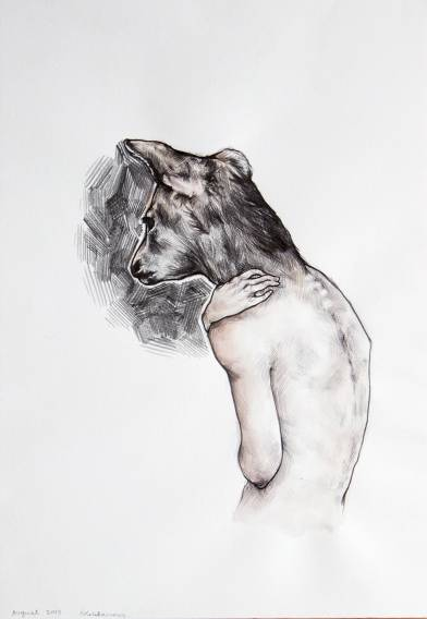 strong and expressive illustrations, talented young artist, online art gallery