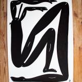 drawings, figurative, monochrome, portraiture, bodies, humor, sport, black, white, paper, marker, abstract-forms, amusing, black-and-white, Buy original high quality art. Paintings, drawings, limited edition prints & posters by talented artists.