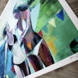 posters-prints, giclee-print, colorful, figurative, graphical, landscape, portraiture, bodies, everyday life, nature, oceans, people, sky, beige, blue, green, orange, turquoise, ink, paper, beautiful, contemporary-art, copenhagen, decorative, design, female, interior, interior-design, love, modern, modern-art, sea, women, Buy original high quality art. Paintings, drawings, limited edition prints & posters by talented artists.