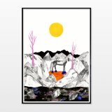 posters-prints, giclee-print, aesthetic, figurative, illustrative, landscape, minimalistic, animals, botany, nature, sky, wildlife, black, grey, yellow, ink, paper, atmosphere, beautiful, contemporary-art, danish, decorative, design, forest, horses, interior, interior-design, modern, modern-art, nordic, posters, prints, scandinavien, sun, Buy original high quality art. Paintings, drawings, limited edition prints & posters by talented artists.