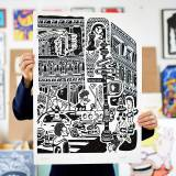 art-prints, giclee, family-friendly, figurative, graphical, illustrative, pop, architecture, everyday life, humor, patterns, people, black, grey, white, ink, paper, amusing, architectural, black-and-white, copenhagen, danish, decorative, interior, interior-design, modern, modern-art, nordic, pop-art, posters, scandinavien, street-art, Buy original high quality art. Paintings, drawings, limited edition prints & posters by talented artists.