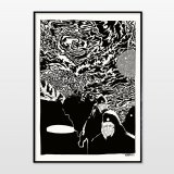 posters-prints, giclee-print, graphical, illustrative, monochrome, portraiture, cartoons, movement, nature, sky, black, white, ink, paper, atmosphere, black-and-white, contemporary-art, danish, decorative, design, faces, modern, modern-art, mountains, nordic, posters, prints, scandinavien, scenery, Buy original high quality art. Paintings, drawings, limited edition prints & posters by talented artists.