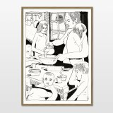 posters-prints, giclee-print, family-friendly, illustrative, monochrome, portraiture, children, everyday life, people, black, white, ink, paper, black-and-white, contemporary-art, danish, design, faces, food, interior, interior-design, modern, modern-art, nordic, posters, prints, scandinavien, Buy original high quality art. Paintings, drawings, limited edition prints & posters by talented artists.