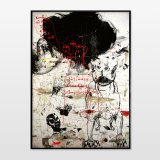 posters-prints, giclee-print, abstract, expressive, figurative, portraiture, bodies, pets, wildlife, beige, black, red, paper, contemporary-art, danish, decorative, design, dogs, expressionism, faces, interior, interior-design, modern, modern-art, nordic, scandinavien, wild-animals, Buy original high quality art. Paintings, drawings, limited edition prints & posters by talented artists.