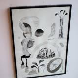 drawings, gouache, watercolors, abstract, aesthetic, landscape, monochrome, botany, nature, patterns, beige, black, paper, watercolor, abstract-forms, beautiful, black-and-white, decorative, flowers, interior, interior-design, plants, pretty, trees, Buy original high quality art. Paintings, drawings, limited edition prints & posters by talented artists.