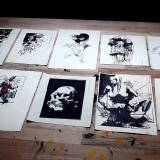 drawings, abstract, figurative, portraiture, architecture, bodies, people, black, white, paper, marker, abstract-forms, danish, decorative, design, faces, interior, interior-design, nordic, scandinavien, Buy original high quality art. Paintings, drawings, limited edition prints & posters by talented artists.