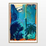 posters-prints, giclee-print, aesthetic, colorful, figurative, illustrative, landscape, botany, nature, blue, green, orange, turquoise, ink, paper, beautiful, contemporary-art, danish, design, forest, interior, interior-design, modern, modern-art, nordic, plants, posters, prints, scandinavien, Buy original high quality art. Paintings, drawings, limited edition prints & posters by talented artists.